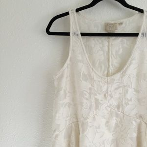 Anthropologie Tops - Anthro Vanessa Virginia Lace and Sheer Tank Top M